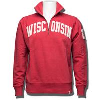 '47 Brand Wisconsin Badgers ¼ Zip Sweatshirt (Red)