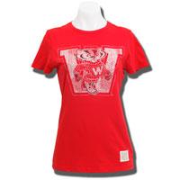 """The Original Retro Brand Women's """"W"""" T-Shirt (Red) *"""