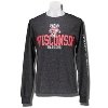 Gear for Sports Wisconsin Distressed Long Sleeve (Charcoal)