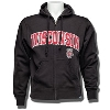 Gear for Sports Wisconsin Full Zip Hooded Sweatshirt (Black)