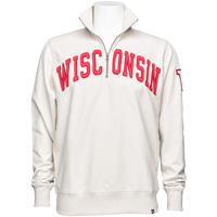 '47 Brand Wisconsin Badgers ¼ Zip Sweatshirt (Sandstone)