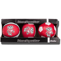 Baden Wisconsin Badgers Set of 3 Mini Sport Balls