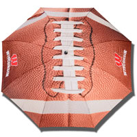 Storm Duds Wisconsin Football Umbrella 48-Inch