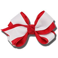 Ashley on Campus Large Hair Bow (Red/White)