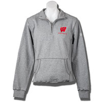 Blue 84 ¼ Wisconsin Zip Sweatshirt (Gray)