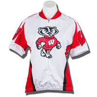 Adrenaline Women's Wisconsin Bike Jersey (White/Red)