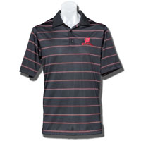 Antigua Deluxe Motion W Wisconsin Polo (Black)