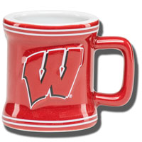 Boelter Brands WI Sculpted 2oz. Mini Mug (red)
