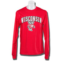 Champion WI Bucky Long Sleeve T-Shirt (Red)