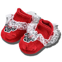 Creative Knitwear Infant Girl Full Bucky Booties (Red)