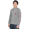 League Wisconsin Badgers Pocket Long Sleeve T-Shirt (Gray)