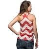 League Women's Chevron Tank Top (Red/White) * thumbnail