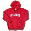 Champion Youth Full Zip WI Sweatshirt (Red) *