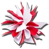 Ashley on Campus Starburst Hair Clip (Red/White)