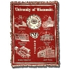 Pure Country Woven UW-Madison Blanket (Red/Cream/Black)