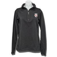 Boxercraft Women's ¼ Zip Bucky Long Sleeve Shirt (Black) *