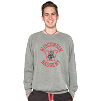 The Original Retro Brand WI Crew Neck Sweatshirt (Charcoal)