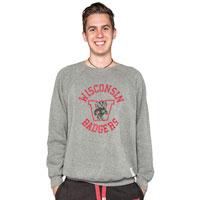 The Original Retro Brand WI Crew Neck Sweatshirt (Charcoal)