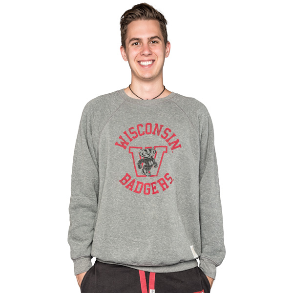 043bbb44151 The Original Retro Brand WI Crew Neck Sweatshirt (Charcoal ...