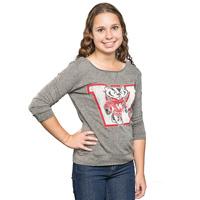 The Original Retro Brand Women's ¾ Sleeve Shirt (Charcoal)