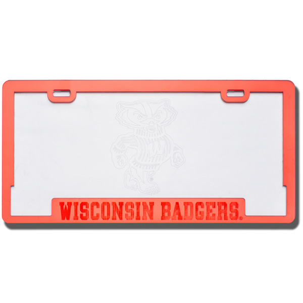 CDI Corp Etched Badgers License Plate Frame | University Book Store