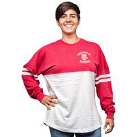 League Women's Ra Ra Long Sleeve T-Shirt (White/Red)