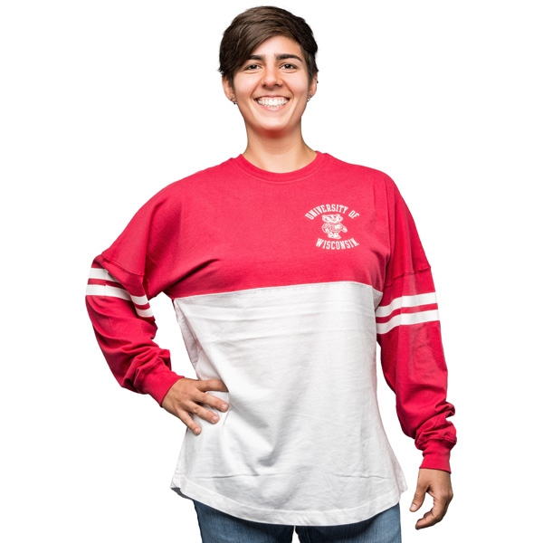 Red And White Long Sleeve t Shirt Sleeve T-shirt White/red