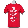 Top Promotions Keep Calm T-Shirt (Red)