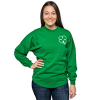 Spirit Jersey Women's Long Sleeve T-Shirt (Kelly Green) *