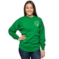Spirit Jersey Women's Long Sleeve T-Shirt (Kelly Green)