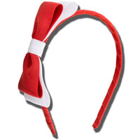 Ashley on Campus Hairband (Red/White)
