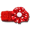 Ashley on Campus Flower Headband (Red)