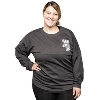 Boxercraft Women's Pom Pom Long Sleeve T-Shirt Charcoal thumbnail