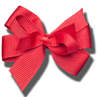 Ashley on Campus Small Hair Bow (Red)