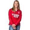 Image for JanSport Women's ¼ Zip Wisconsin Mom Sweatshirt (Red) *