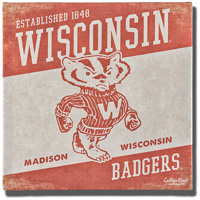 Image For Legacy Vault Wisconsin Badgers Canvas Print