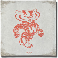Image For Legacy Vault Wisconsin Badger Bucky Badger Canvas Art