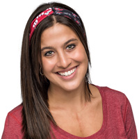 Image For Spirit Products Wisconsin Badgers Duo Headband (Red/Black)