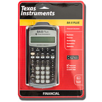 Cover Image For TI BA-II+ Financial Calculator