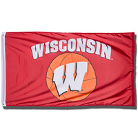Cover Image For Sewing Concepts Wisconsin Badgers Basketball Flag *