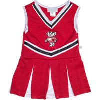 Image For Third Street Infant/Toddler Bucky Badger Cheer Outfit (Red)