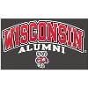 Cover Image for '47 Brand Wisconsin Alumni ¼ Zip Sweatshirt (Red)