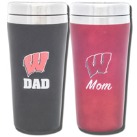 Image For Fanatic Group Wisconsin Mom and Dad Tumbler Set