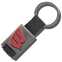 Image For Fanatic Group Wisconsin Badgers Key Chain (Black)