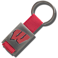 Image For Fanatic Group Wisconsin Badgers Key Chain (Red)