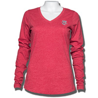 Cover Image For Antigua Women's Bucky Badger Long Sleeve T-Shirt (Red) *