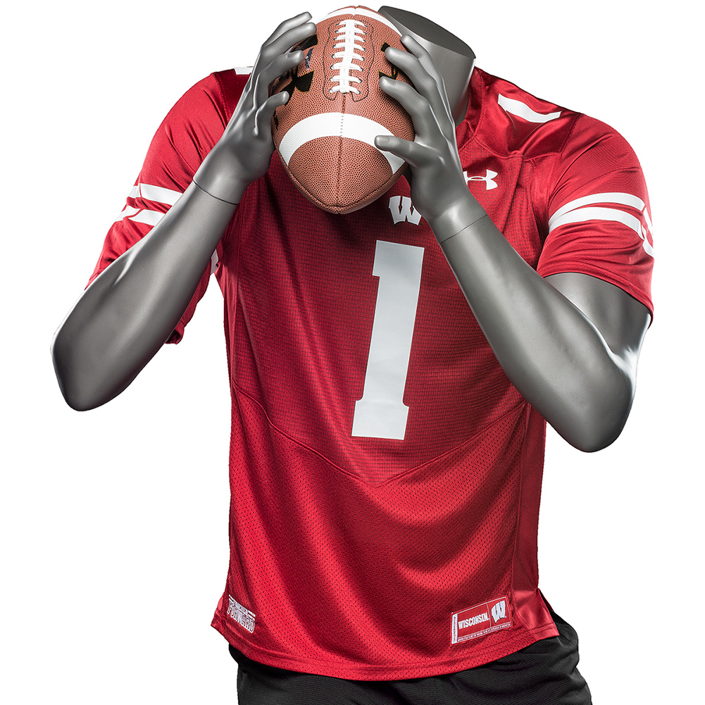 Under Armour WI Replica Football Jersey #1 (Red)   University Book ...