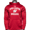 Image for Under Armour WI Badgers Fleece Hooded Sweatshirt (Red) 3X