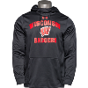 Cover Image for Blue 84 Distressed Wisconsin Hooded Sweatshirt (Vintage Red)