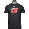 Image for Under Armour Wisconsin Charged Cotton Tee (Black)